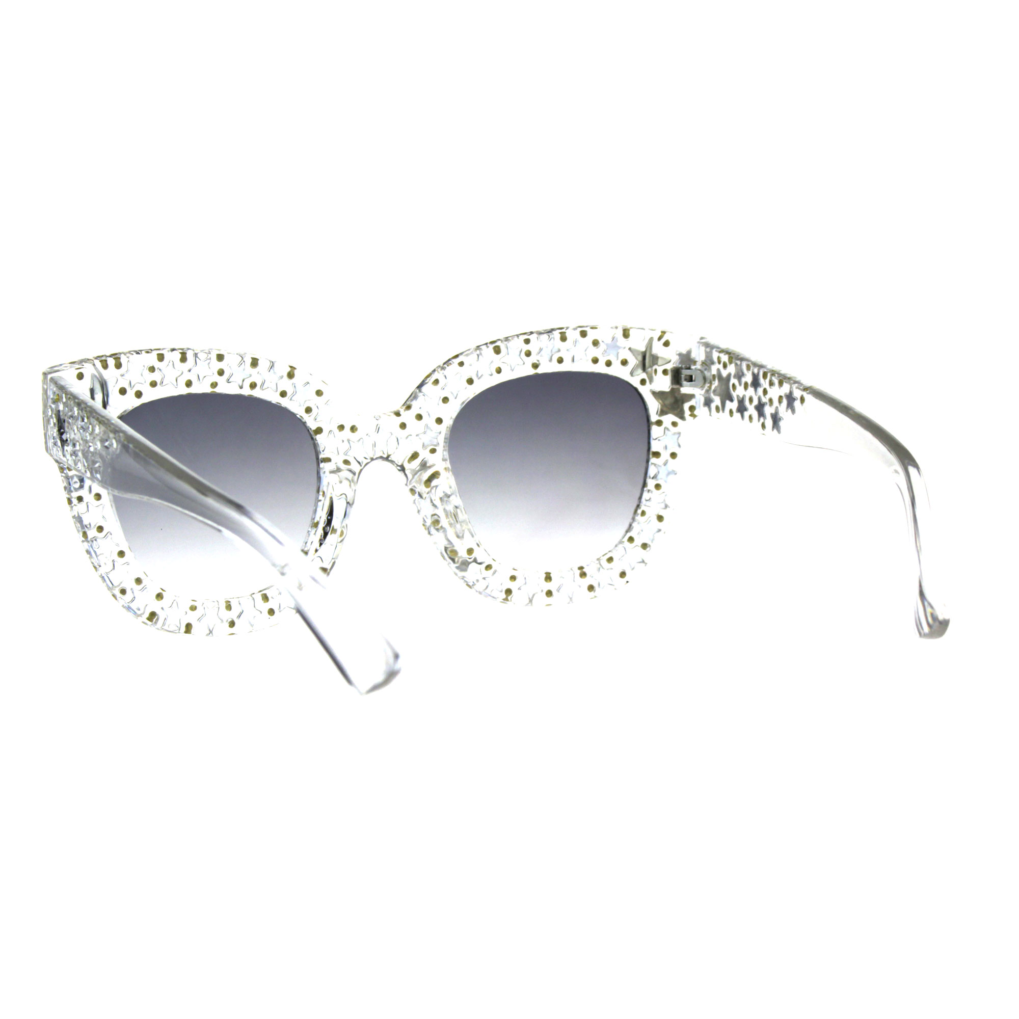 12606ea868d62 Star Engrave Bling Thick Horn Rim Womens Diva Sunglasses